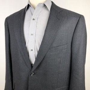 Bespoke Pure Cashmere Sport Coat 46R Navy Blue